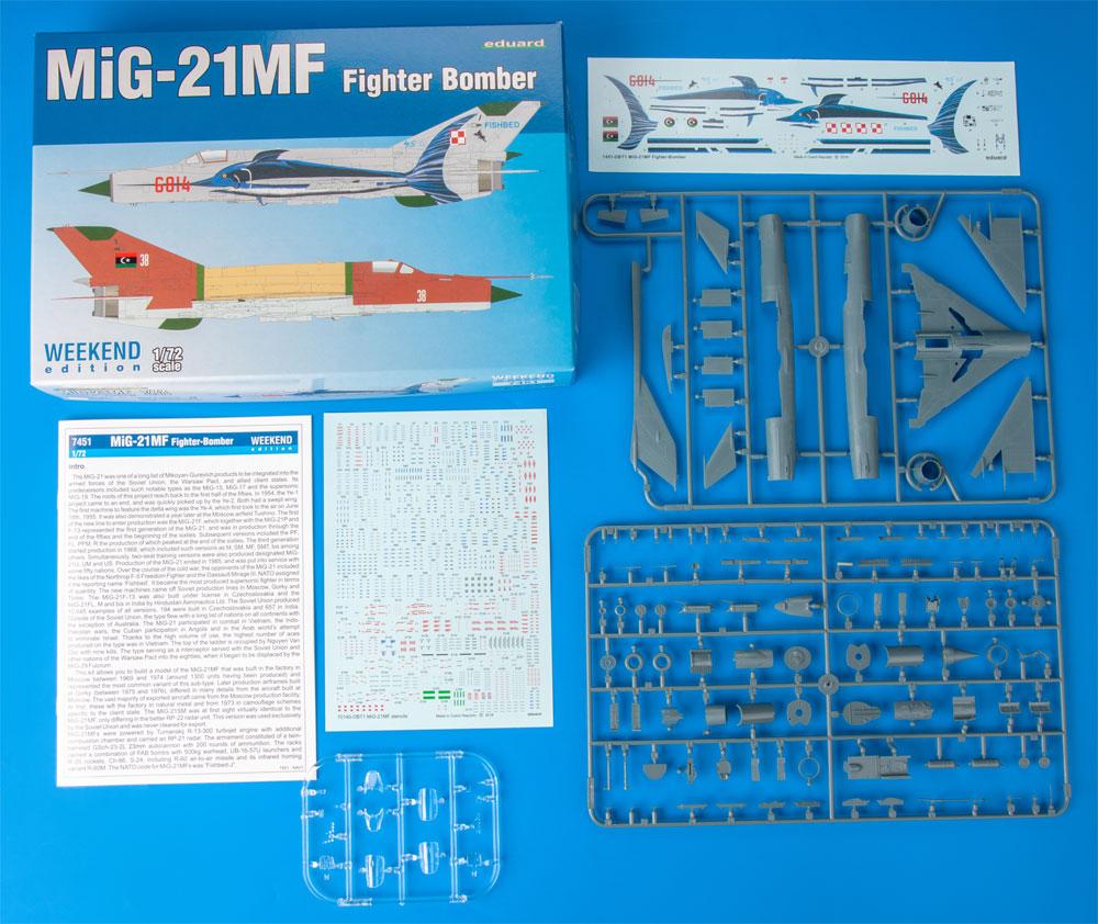 MiG-21MF 戦闘攻撃機プラモデル(エデュアルド1/72 ウィークエンド エディションNo.7451)商品画像_1