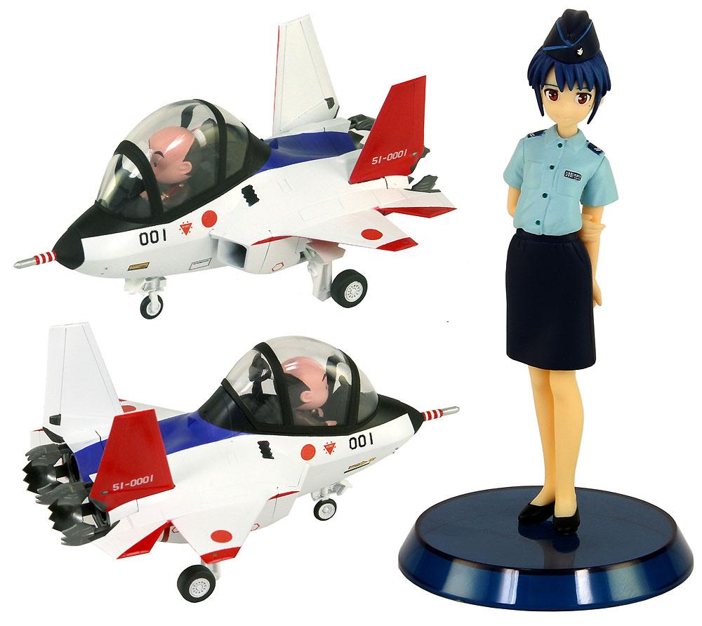先進技術実証機 X-2 自衛官 大井川静 1等空士 フィギュア付き限定版プラモデル(グレートウォールホビーデフォルメプレーンNo.LDP001SP)商品画像_2