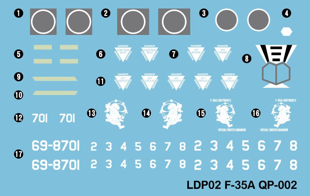 航空自衛隊 戦闘機 F-35A 自衛官 山口美南 3等空尉 フィギュア付き限定版プラモデル(グレートウォールホビーデフォルメプレーンNo.LDP002SP)商品画像_2