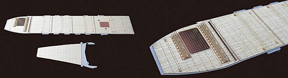 日本海軍 航空母艦 加賀 三段式飛行甲板用 木甲板シール & 艦名プレート甲板シート(フジミ1/700 艦船模型用グレードアップパーツNo.特086EX-101)商品画像_2