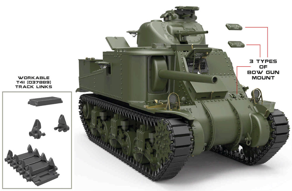 M3 リー 後期型プラモデル(ミニアート1/35 WW2 ミリタリーミニチュアNo.35214)商品画像_3