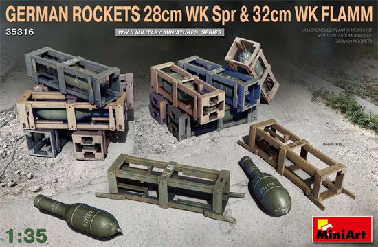 ドイツ 28cm ロケット榴弾 & 32cm ロケット焼夷弾セットプラモデル(ミニアート1/35 WW2 ミリタリーミニチュアNo.35316)商品画像