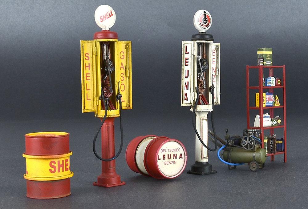 ドイツ ガスステーション 1930-40年代プラモデル(ミニアート1/35 ビルディング&アクセサリー シリーズNo.35598)商品画像_2