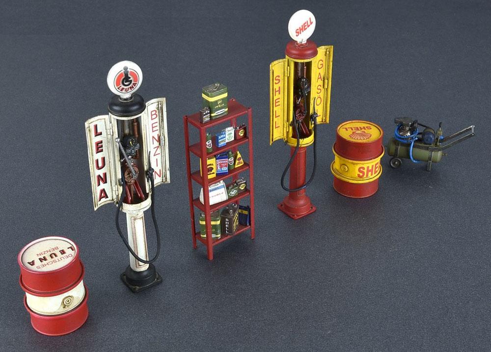 ドイツ ガスステーション 1930-40年代プラモデル(ミニアート1/35 ビルディング&アクセサリー シリーズNo.35598)商品画像_3