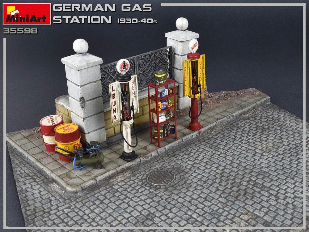 ドイツ ガスステーション 1930-40年代プラモデル(ミニアート1/35 ビルディング&アクセサリー シリーズNo.35598)商品画像_4