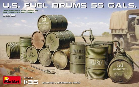 アメリカ軍 55ガロン ドラム缶プラモデル(ミニアート1/35 ビルディング&アクセサリー シリーズNo.35592)商品画像
