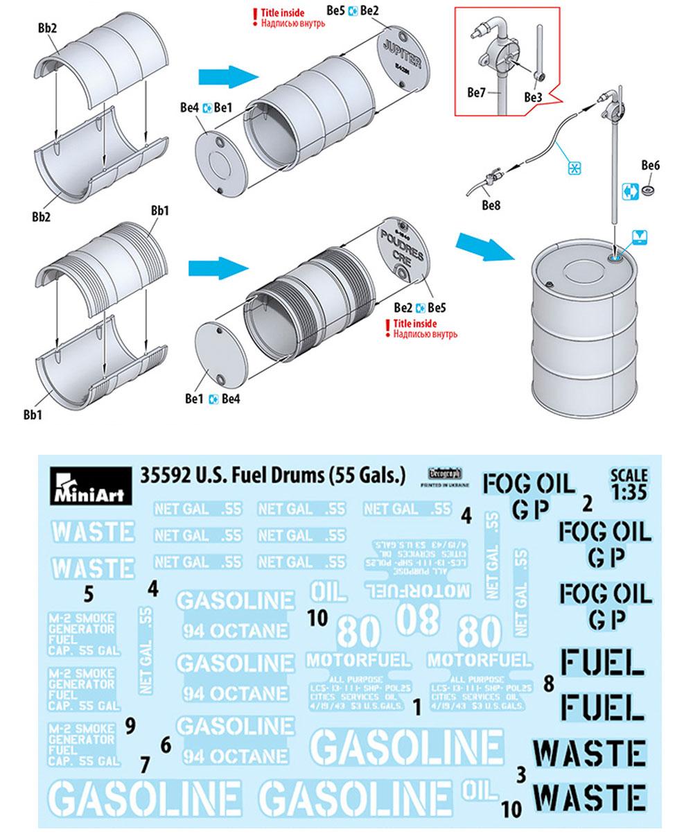 アメリカ軍 55ガロン ドラム缶プラモデル(ミニアート1/35 ビルディング&アクセサリー シリーズNo.35592)商品画像_1