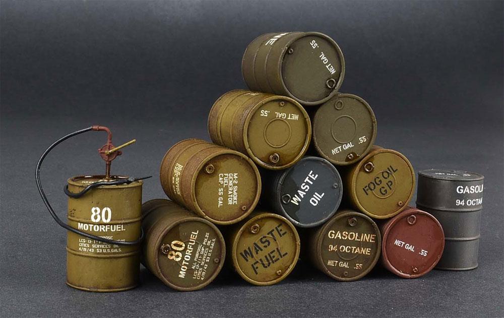 アメリカ軍 55ガロン ドラム缶プラモデル(ミニアート1/35 ビルディング&アクセサリー シリーズNo.35592)商品画像_3