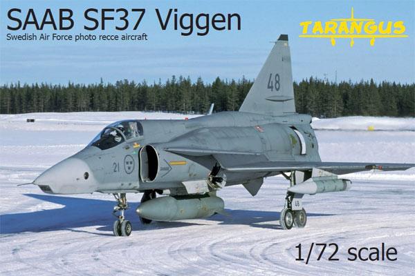 サーブ SF37 ビゲン 偵察機プラモデル(タラングス1/72 エアクラフト プラモデルNo.TA7204)商品画像