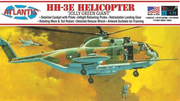 シコルスキー HH-3 ジョリーグリーンジャイアント ヘリコプタープラモデル(アトランティスプラスチックモデルキットNo.A505)商品画像