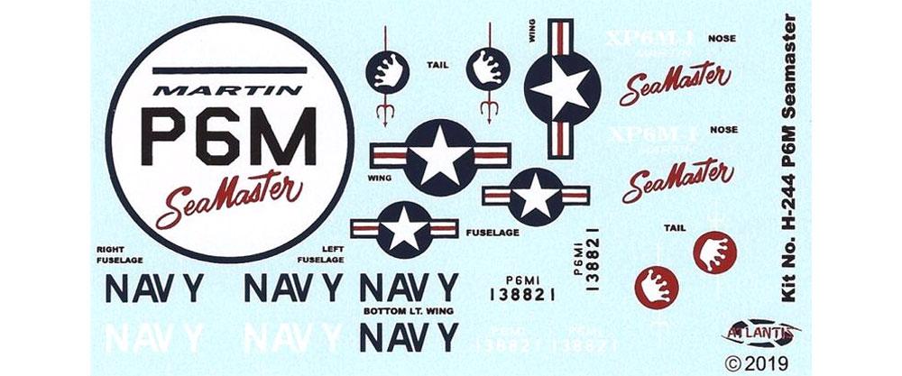 マーチン P-6M シーマスター w/スイベルスタンド (旧レベル)プラモデル(アトランティスプラスチックモデルキットNo.H244)商品画像_1
