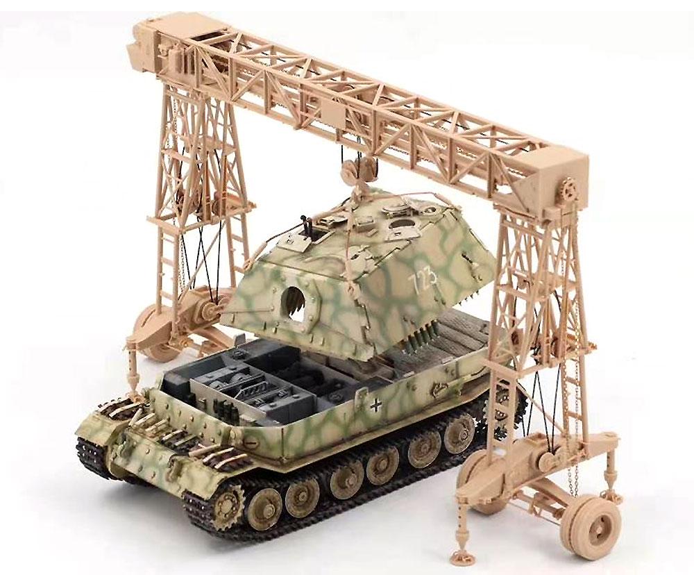 ドイツ 重駆逐戦車 フェルディナント (フルインテリア) & 16t ストラボクレーンプラモデル(アミュージングホビー1/35 ミリタリーNo.35A030)商品画像_1