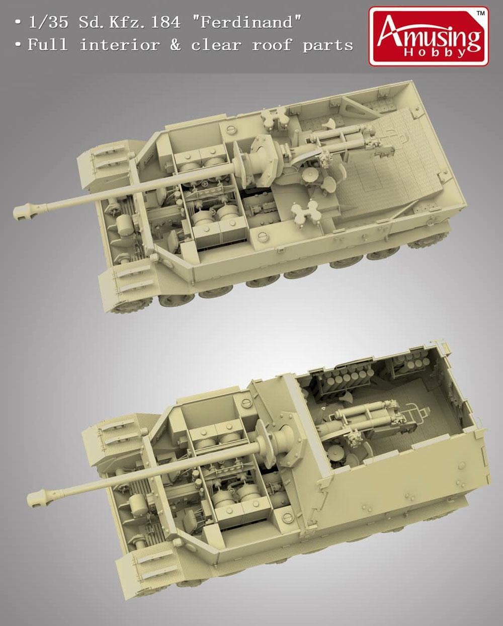 ドイツ 重駆逐戦車 フェルディナント (フルインテリア) & 16t ストラボクレーンプラモデル(アミュージングホビー1/35 ミリタリーNo.35A030)商品画像_2