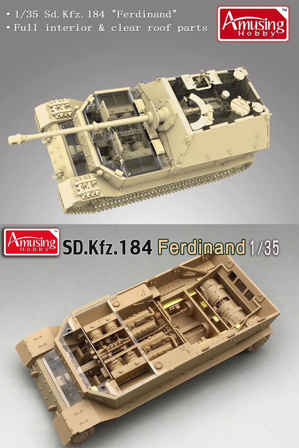 ドイツ 重駆逐戦車 フェルディナント (フルインテリア) & 16t ストラボクレーンプラモデル(アミュージングホビー1/35 ミリタリーNo.35A030)商品画像_3