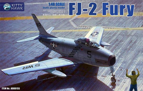 FJ-2 フューリー w/フィギュアプラモデル(キティホーク1/48 ミリタリーエアクラフト プラモデルNo.KH80155)商品画像