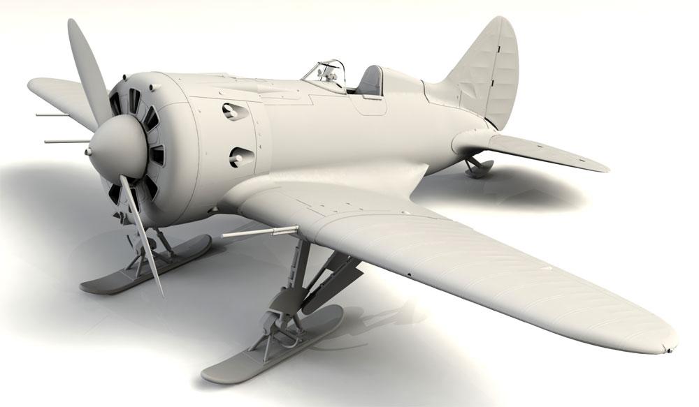 ポリカルポフ I-16 タイプ17プラモデル(ICM1/32 エアクラフトNo.32005)商品画像_1