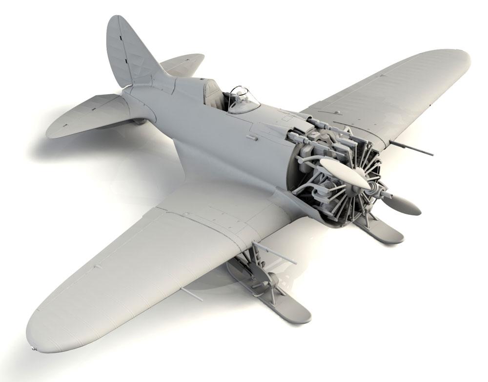 ポリカルポフ I-16 タイプ17プラモデル(ICM1/32 エアクラフトNo.32005)商品画像_4