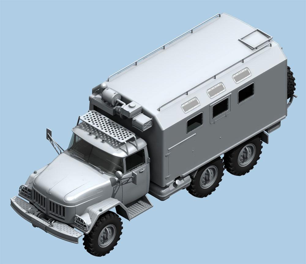 ZiL-131 KShM w/ソビエトドライバープラモデル(ICM1/35 ミリタリービークル・フィギュアNo.35524)商品画像_1