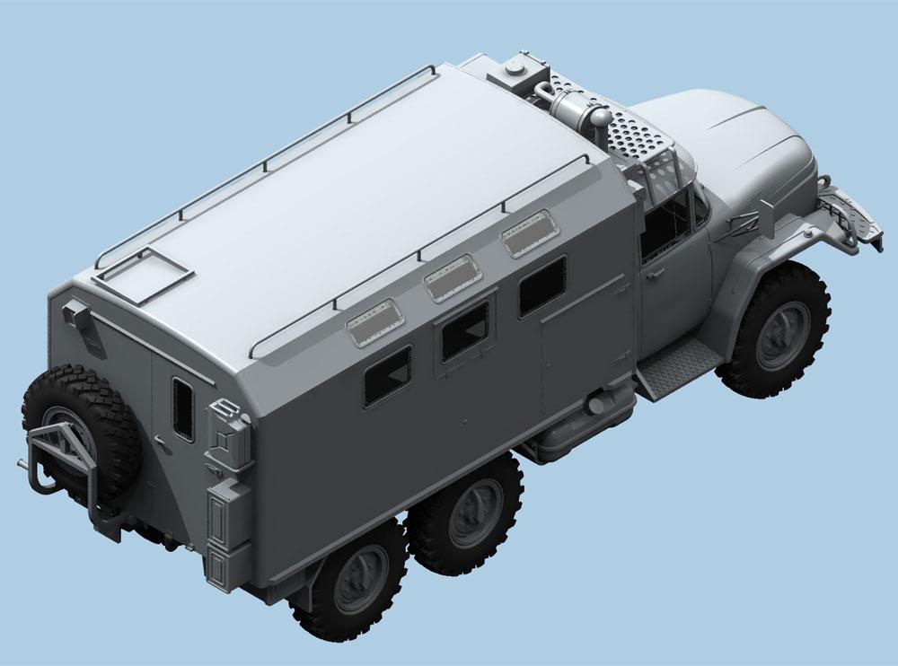 ZiL-131 KShM w/ソビエトドライバープラモデル(ICM1/35 ミリタリービークル・フィギュアNo.35524)商品画像_2