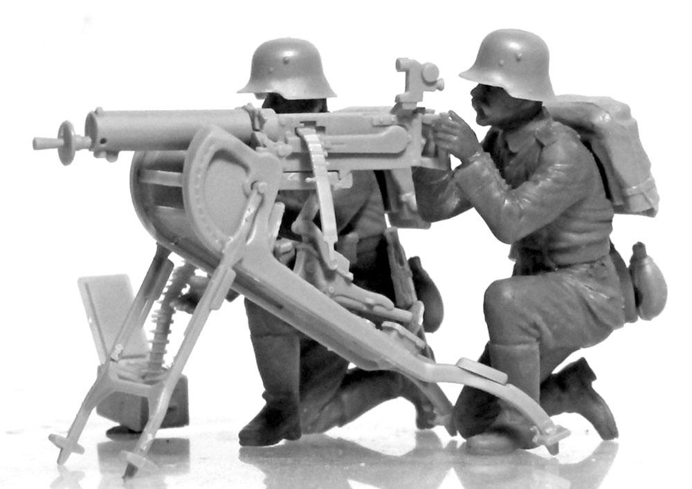 WW1 ドイツ MG08 MGチームプラモデル(ICM1/35 ミリタリービークル・フィギュアNo.35711)商品画像_2