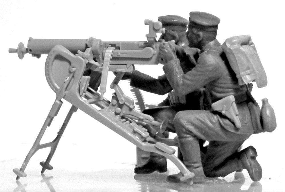 WW1 ドイツ MG08 MGチームプラモデル(ICM1/35 ミリタリービークル・フィギュアNo.35711)商品画像_3