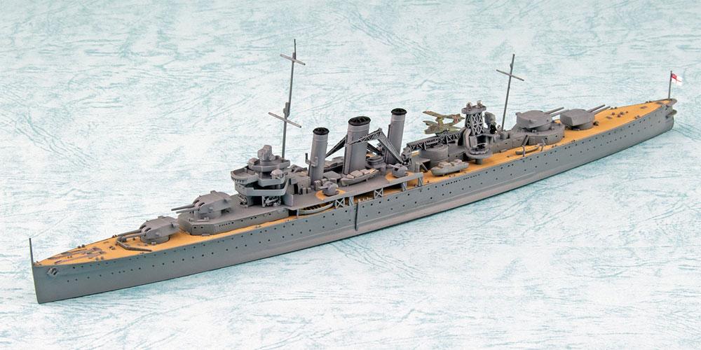 英国海軍 重巡洋艦 ケント ベンガジ攻撃作戦プラモデル(アオシマ1/700 ウォーターラインシリーズNo.056714)商品画像_1