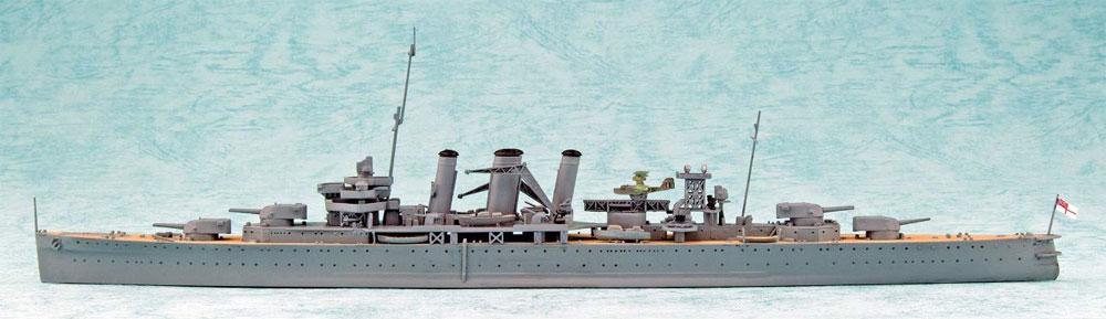 英国海軍 重巡洋艦 ケント ベンガジ攻撃作戦プラモデル(アオシマ1/700 ウォーターラインシリーズNo.056714)商品画像_2