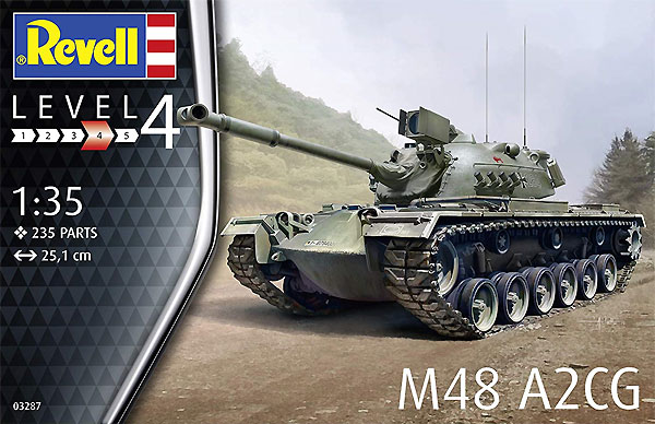 M48 A2CGプラモデル(レベル1/35 ミリタリーNo.03287)商品画像
