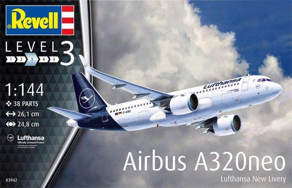 エアバス A320neo ルフトハンザ New Liveryプラモデル(レベル1/144 旅客機No.03942)商品画像