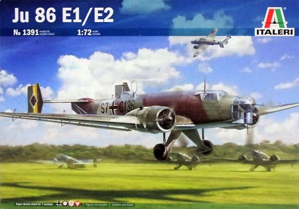 ユンカース Ju86E1/E2プラモデル(イタレリ1/72 航空機シリーズNo.1391)商品画像