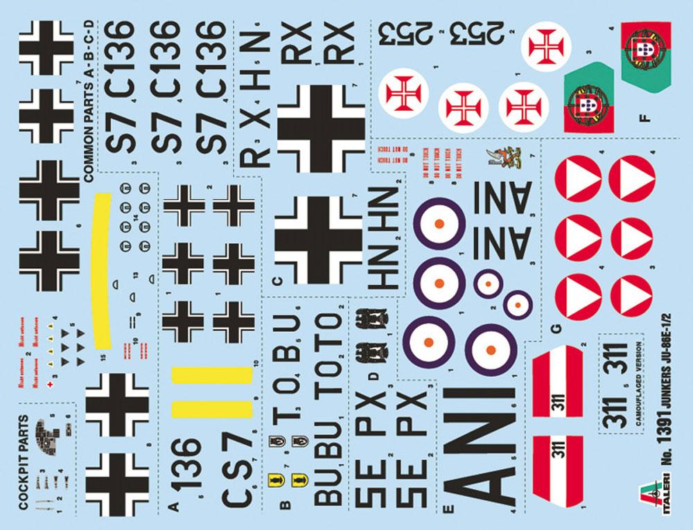 ユンカース Ju86E1/E2プラモデル(イタレリ1/72 航空機シリーズNo.1391)商品画像_1
