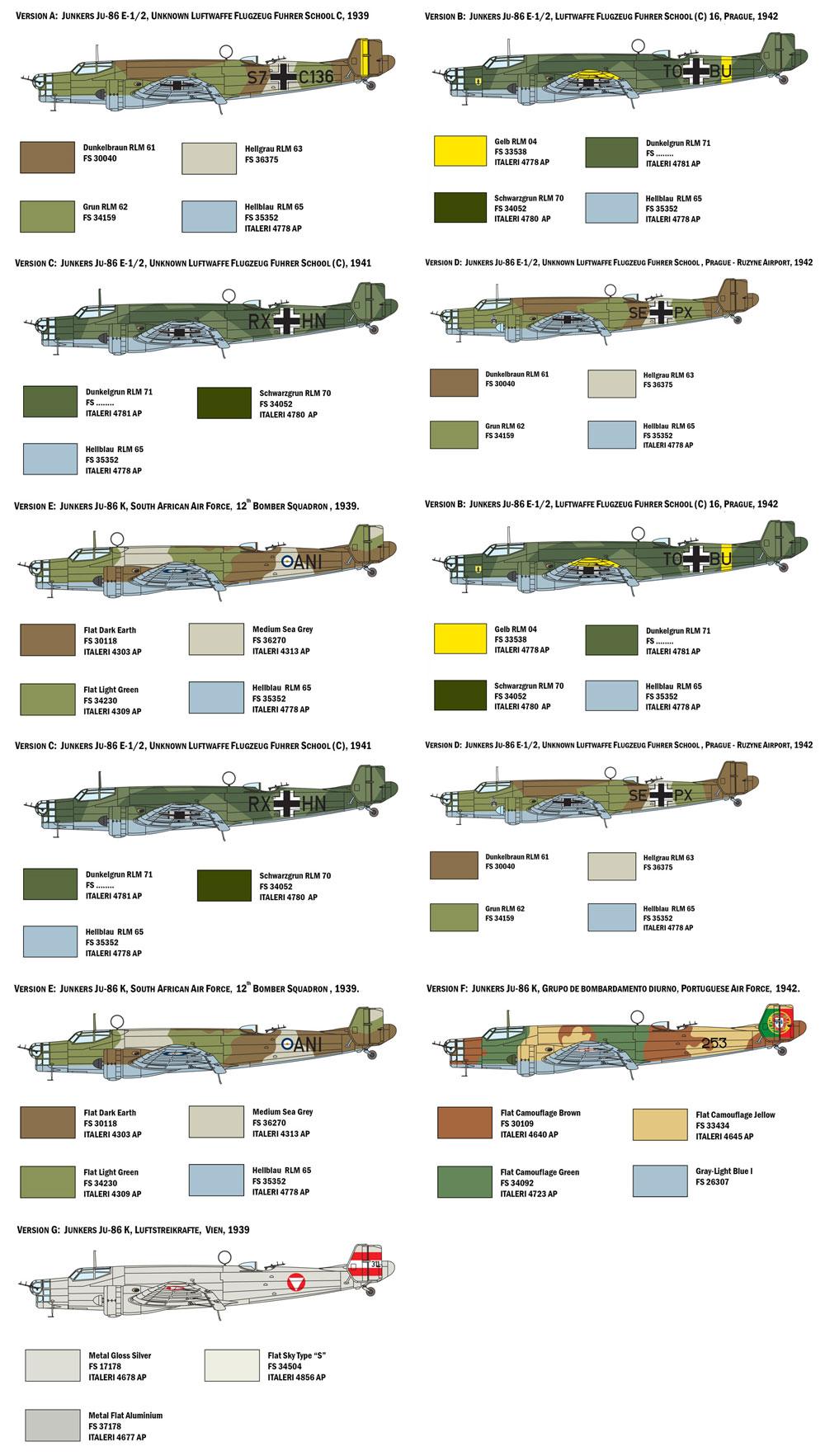 ユンカース Ju86E1/E2プラモデル(イタレリ1/72 航空機シリーズNo.1391)商品画像_2