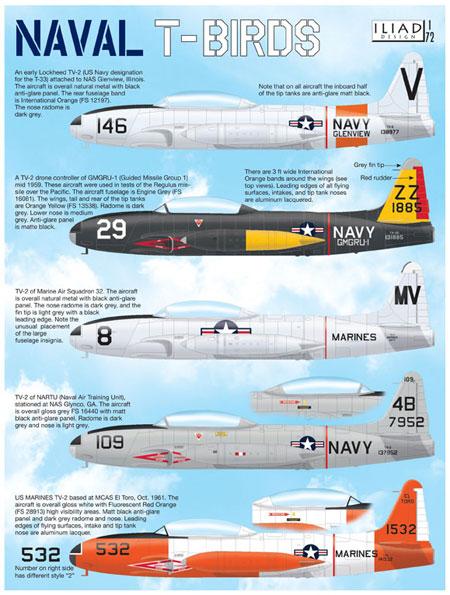 アメリカ海軍 Tバード デカールデカール(イリアド1/72 デカールNo.72012)商品画像