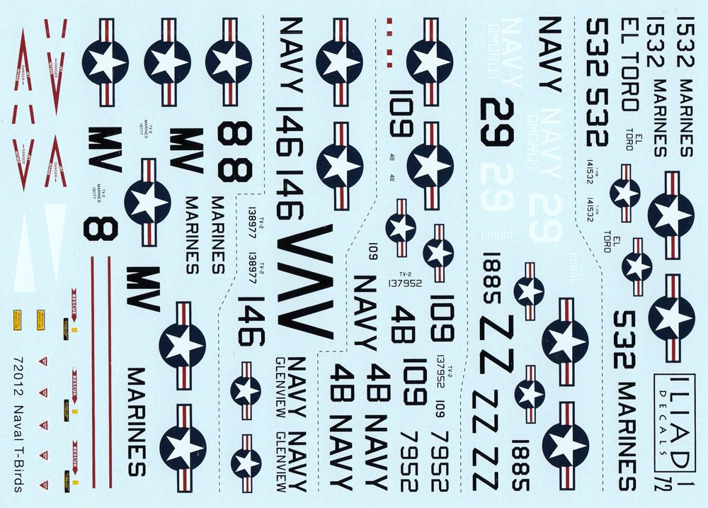 アメリカ海軍 Tバード デカールデカール(イリアド1/72 デカールNo.72012)商品画像_1