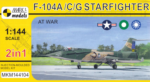 F-104A/C/G スターファイター アット・ウォープラモデル(MARK 1MARK 1 modelsNo.MKM144104)商品画像