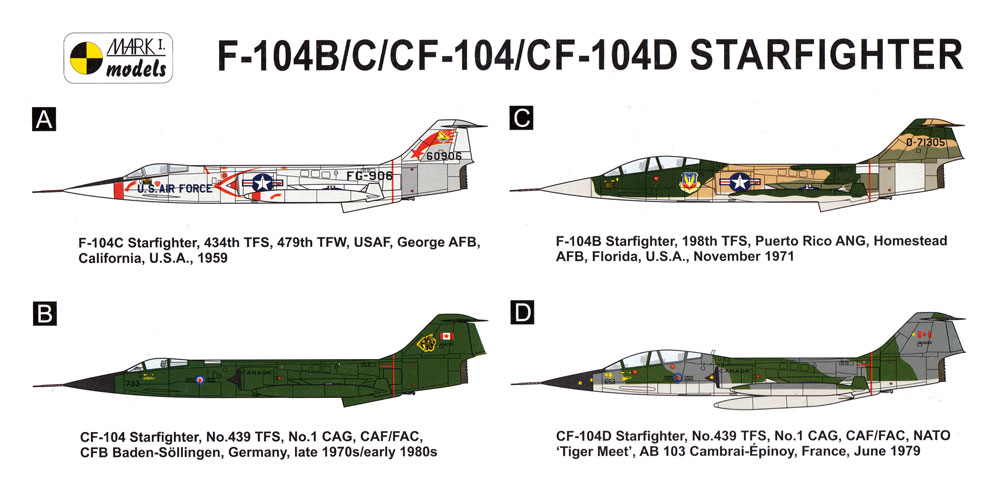 F-104B/C/CF-104/CF-104D アメリカン スターファイタープラモデル(MARK 1MARK 1 modelsNo.MKM144105)商品画像_1
