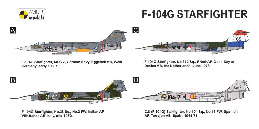 F-104G スターファイター ヨーロッパプラモデル(MARK 1MARK 1 modelsNo.MKM144107)商品画像_1