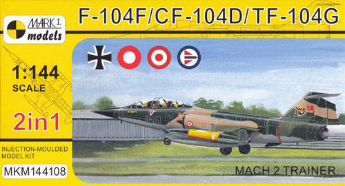 F-104F/CF-104D/TF-104G マッハ 2 トレーナープラモデル(MARK 1MARK 1 modelsNo.MKM144108)商品画像