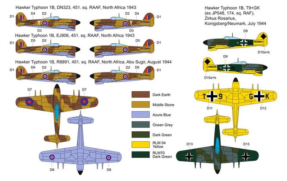 ホーカー タイフーン Mk.1b カードア 砂漠迷彩、ドイツ空軍 トライアルプラモデル(ブレンガン1/72 Plastic kitsNo.BRP72039)商品画像_2