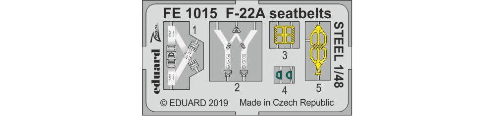 F-22A ラプター シートベルトエッチング(エデュアルド1/48 エアクラフト カラーエッチング ズーム (FE-×)No.FE1015)商品画像_1