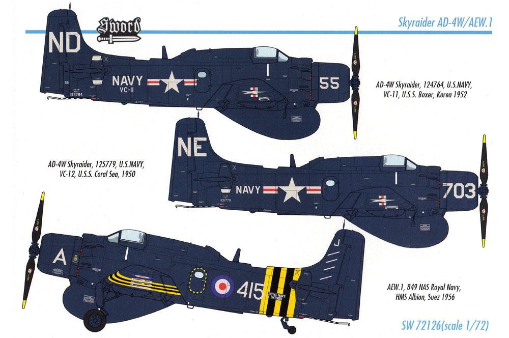 AD-4W/AEW.1 スカイレーダープラモデル(ソード1/72 エアクラフト プラモデルNo.SW72126)商品画像_1