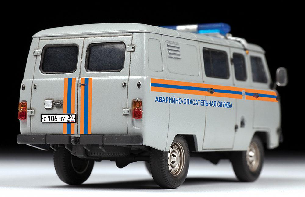 UAZ 3909 ロシア非常事態省仕様プラモデル(ズベズダ1/43 カーモデルNo.43002)商品画像_3