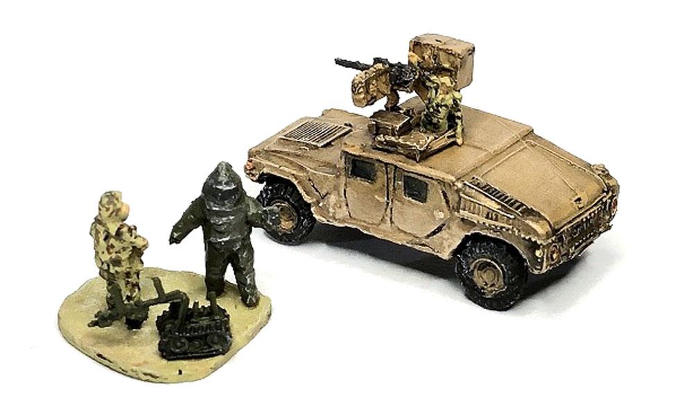 M1025 ハンビー & 地雷処理チームセットレジン(マツオカステン1/144 オリジナルレジンキャストキット (AFV)No.MTUAFV-115)商品画像_1