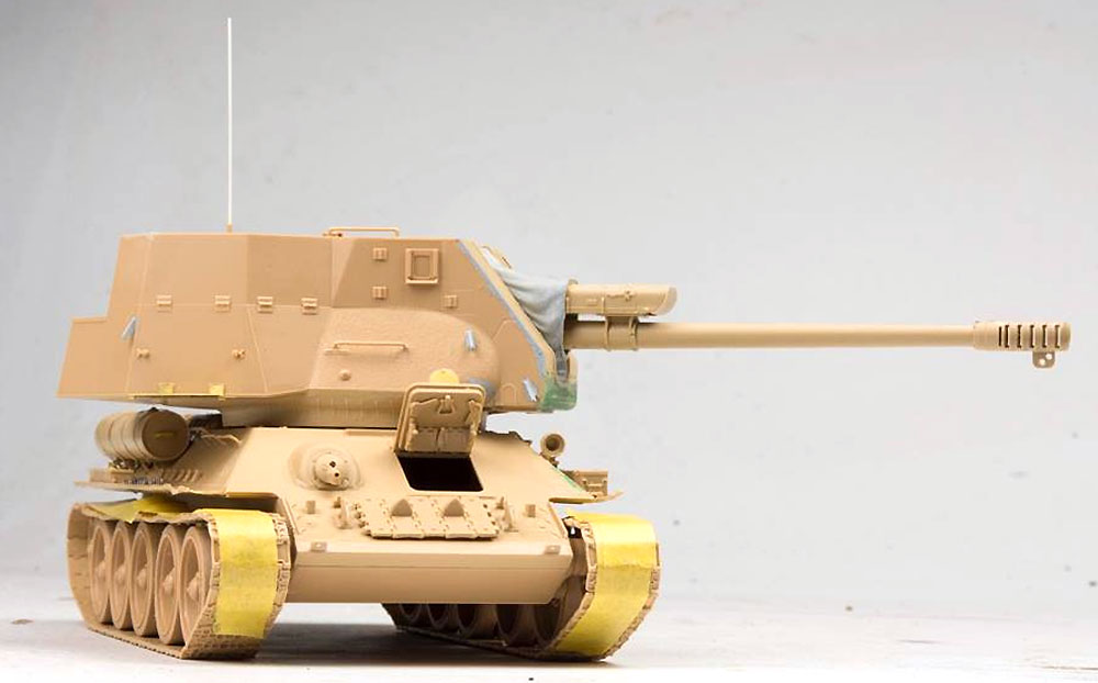 T-34/D-30 122mm自走砲 シリア軍プラモデル(ライ フィールド モデル1/35 AFVNo.5030)商品画像_3