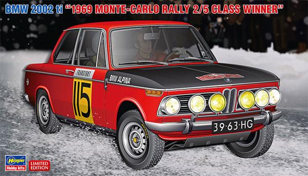 BMW 2002 ti 1969 モンテカルロ ラリー 2/5 クラス ウィナープラモデル(ハセガワ1/24 自動車 限定生産No.20420)商品画像
