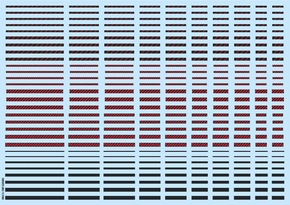 ラインデカール 2 ダークグレー + レッドデカール(HIQパーツデカールNo.LINED02-DRXRD)商品画像_2
