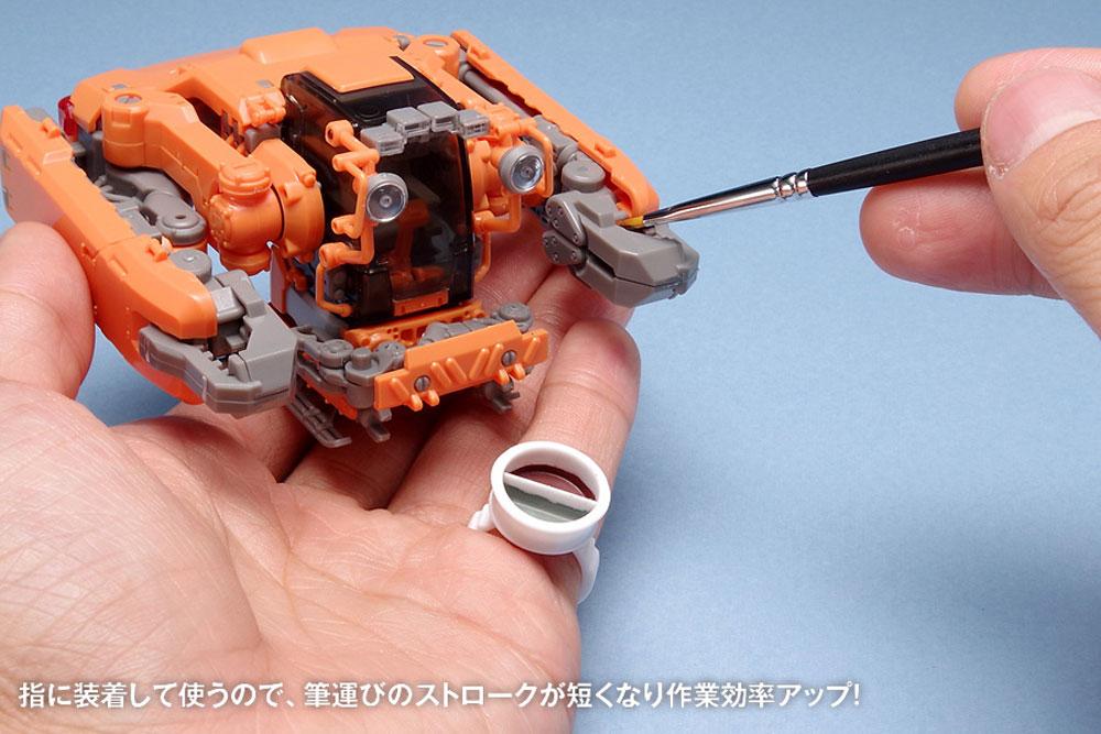リング型塗料カップ B 0.2cc×2カップ(ウェーブホビーツールシリーズNo.OF-062)商品画像_2
