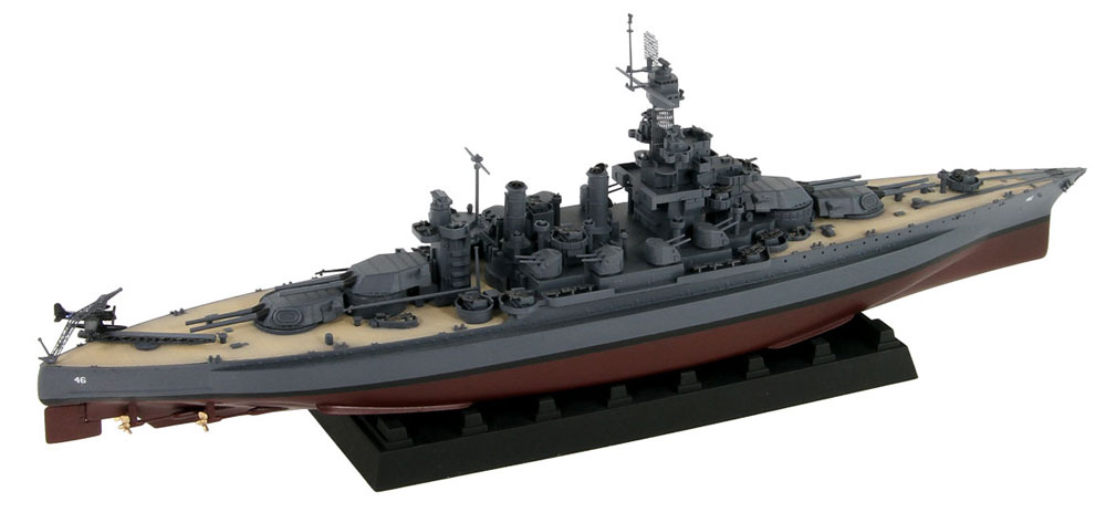 アメリカ海軍 コロラド級戦艦 BB-46 メリーランド 1945 真鍮挽き物砲身、旗&旗竿・艦名プレート エッチングパーツ付きプラモデル(ピットロード1/700 スカイウェーブ W シリーズNo.W199SP)商品画像_2