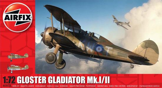 グロスター グラディエーター Mk.1/2プラモデル(エアフィックス1/72 ミリタリーエアクラフトNo.A02052A)商品画像