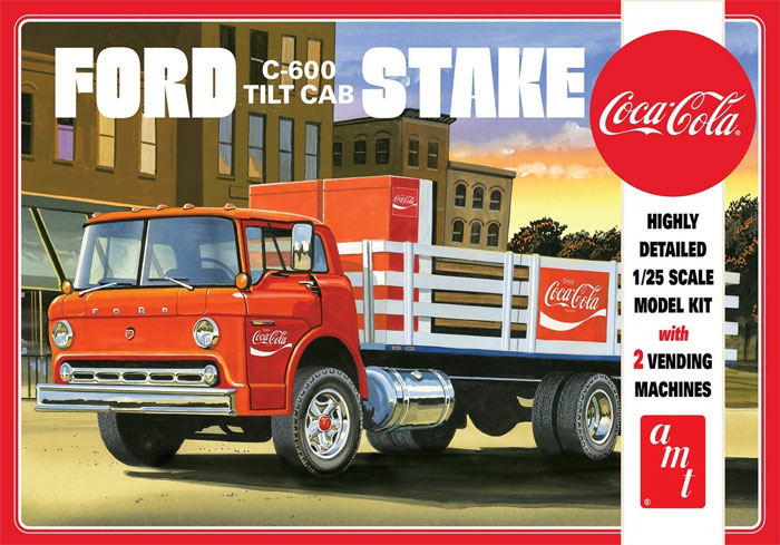 フォード C-600 ステイクベッド トラック w/コカ・コーラマシンプラモデル(amt1/25 カーモデルNo.AMT1147/06)商品画像
